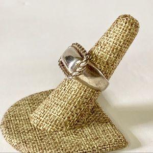 Vintage Jewelry - Vtg Sterling Silver 925 Modernist Ring Size 6.5